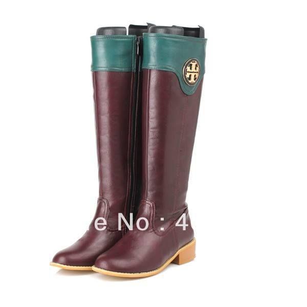 2013 New quente Lady sapatos da moda outono cavaleiro joelho botas altas senhoras primavera e botas de motociclista inverno para as mulheres...