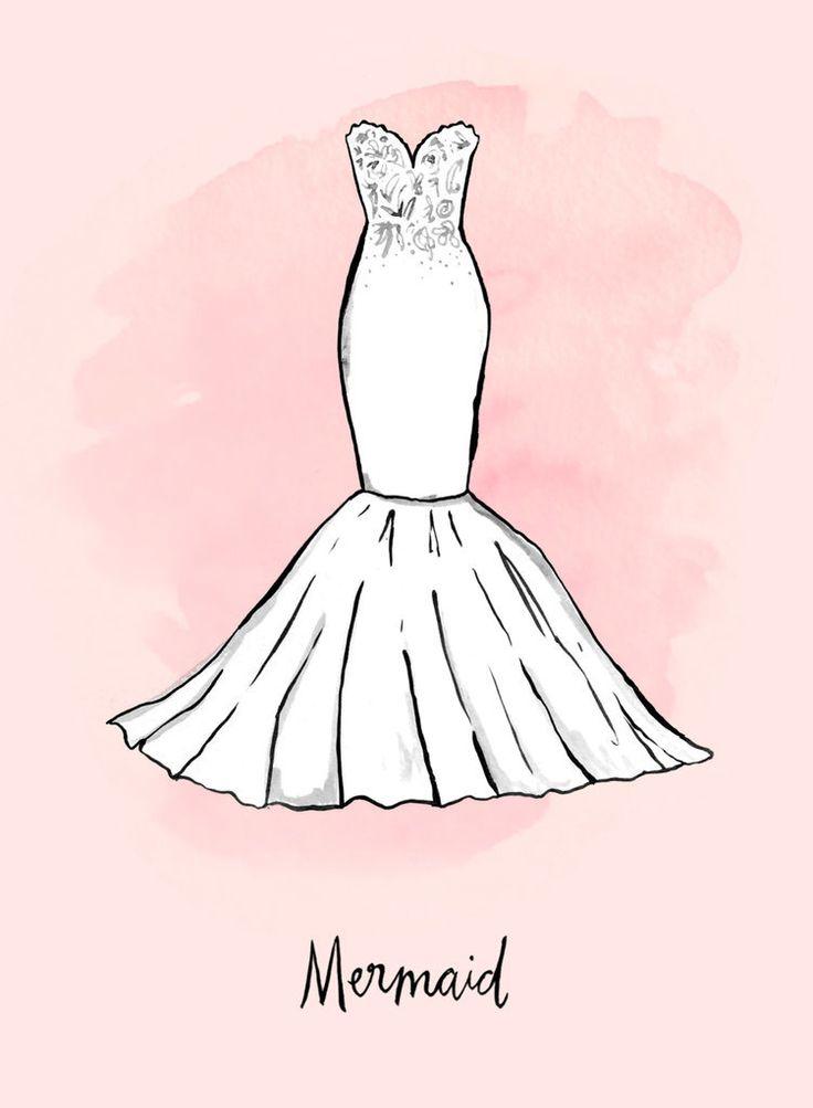21 best Dibujos de vestidos de novia images on Pinterest   Dibujo de ...