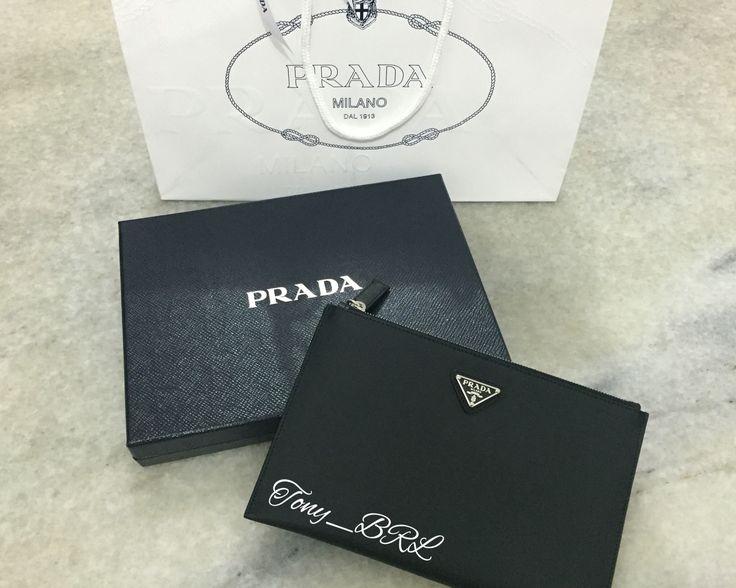 Prada always classic clutch