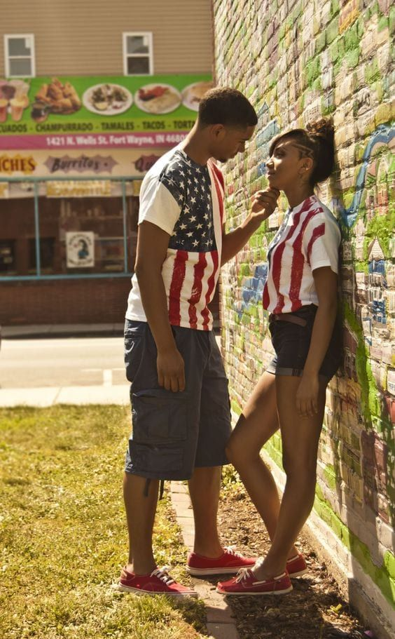 ac2c2e4aa96 20-Matching-patriotism 13 Cutest Matching Outfits For Black Couples