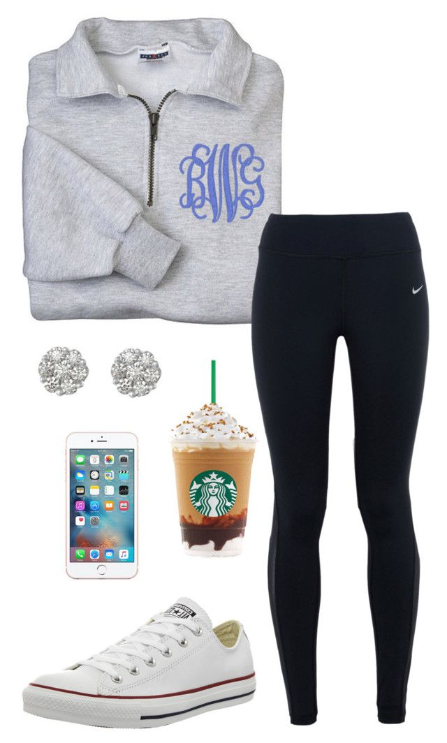 """Said her name was Georgia Rose"" by toonceyb ❤ liked on Polyvore featuring NIKE, Converse, women's clothing, women's fashion, women, female, woman, misses and juniors"