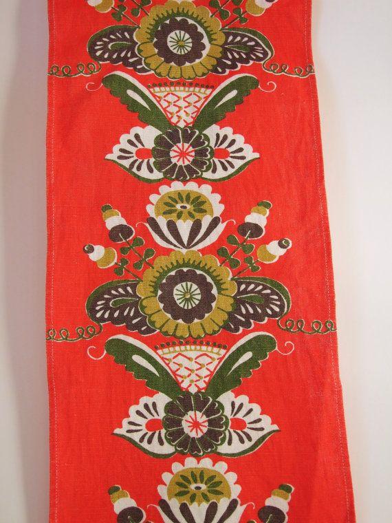 Suecia Dalarna Kurbits Textil impreso Camino de por tiendanordica