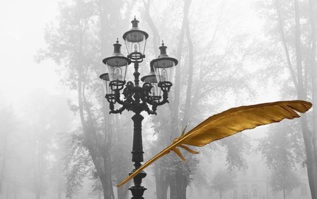 I morgon, Alla helgons dag eller Halloween, är det skenvandring i Vänersborg. Den gamla gatubelysningen i Plantaget kallas Mansdråparen, bara en sån sak. En vandring mellan ljus och mörker, från den ena sidan till den andra.