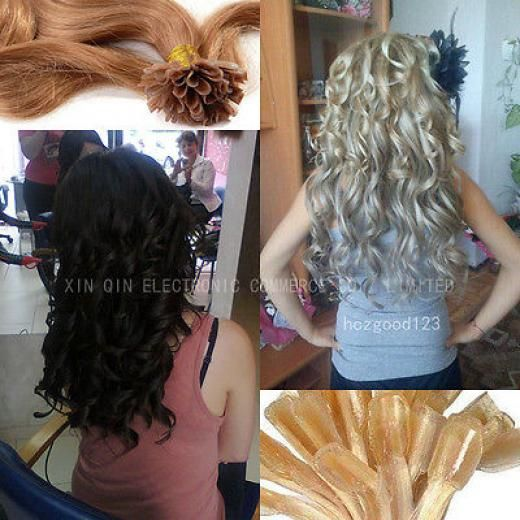 """All Colors 18""""-32"""" Keratin Nail U-tip Human Hair Extensions Straight Curly Wavy Adult Long Straight,curly,wavy 50gr,100gr Women"""