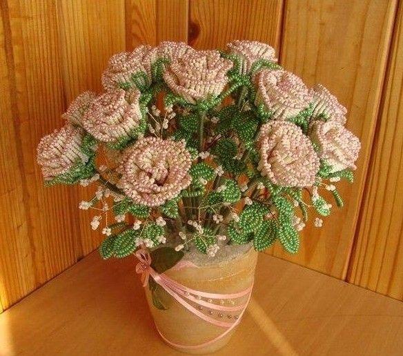 DIY Bead Roses Bouquet