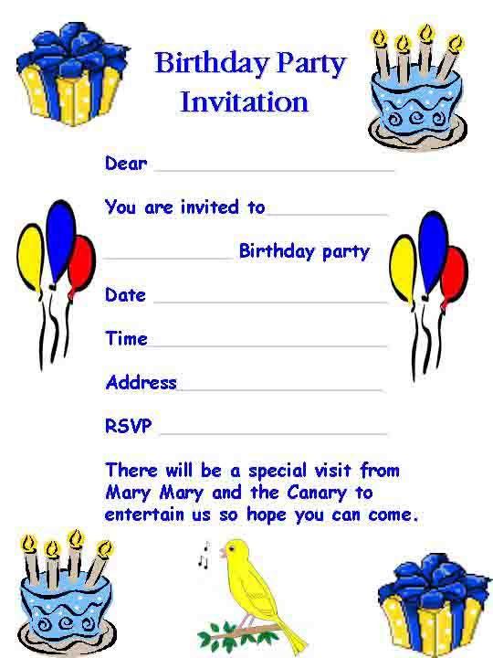 birthday invitation letter