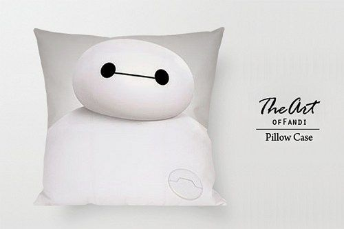 "Big Hero6 Bay Max - Custom Square 18""x18"" One Side Pillow Case."