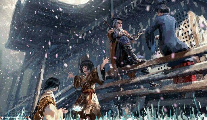 Sekiro Shadows Die Twice Wlop On Patreon Shadow Digital Artist Dark Souls