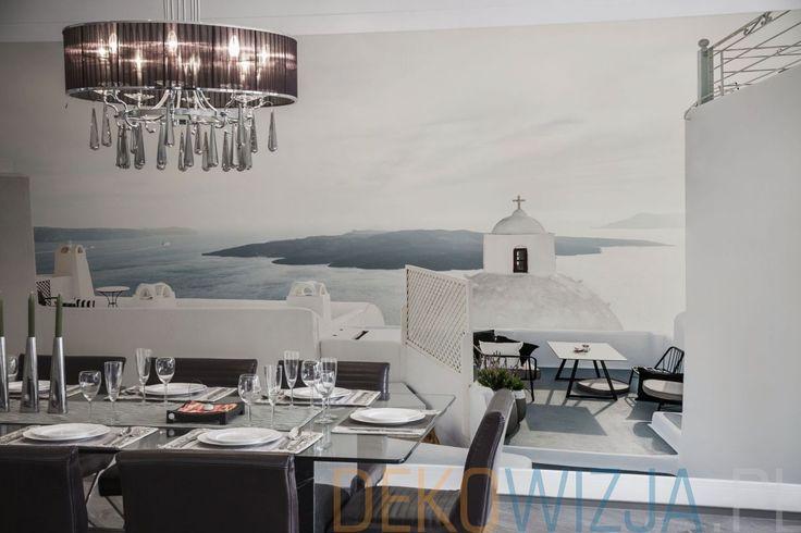 Fototapeta z Santorini do kuchni