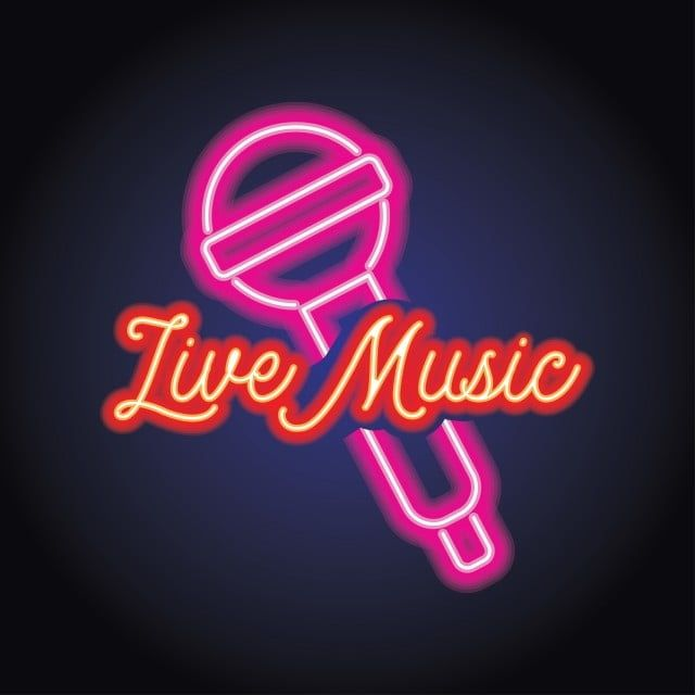 Music And Live Music Logo With Neon Light Effect Vector Illustration Music Musical Note Png And Vector With Transparent Background For Free Download Music Logo Vector Illustration Neon