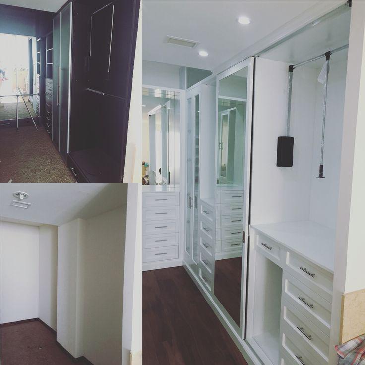 Antes y Después del closet. He soñado tanto con el diseño de este vestidor!