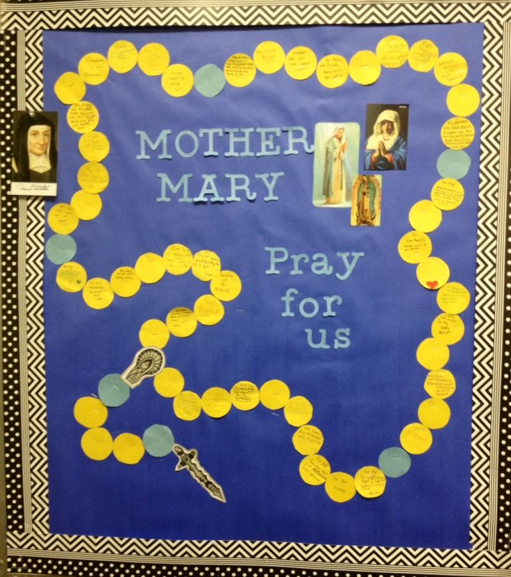Rosary bulletin board