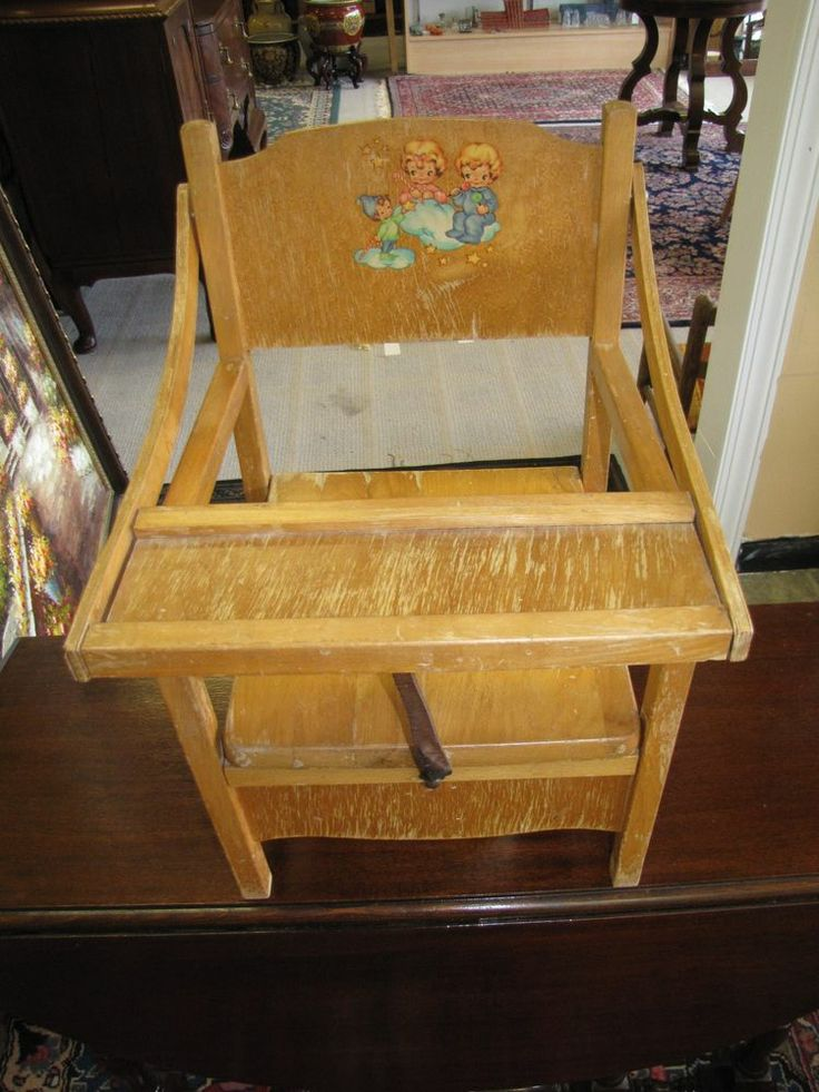 Early Handpainted Childu0027s Potty Chair At The Raleigh Furniture Gallery