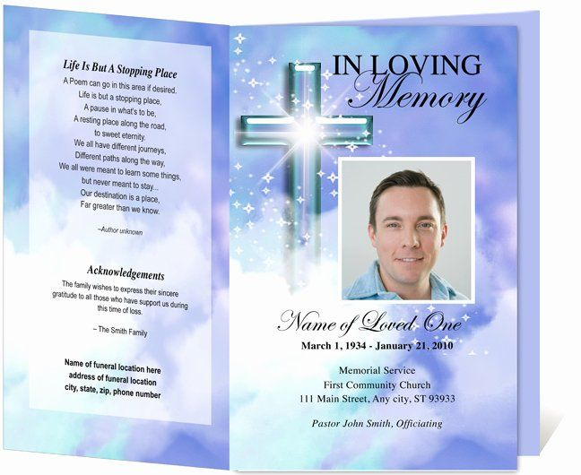 Memorial Card Template Free Download Best Of Free Funeral Program Template Peterainsworth Memorial Cards Funeral Program Template Funeral Programs