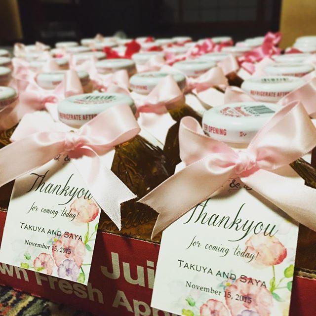 プチギフトはマルティネリ♡  #結婚式 #プチギフト #マルティネリ #リボン60個なかなかキツかった #タグがお気に入り #卒花