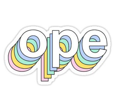 Rainbow Ope   Sticker   Aesthetic stickers, Unique sticker ...