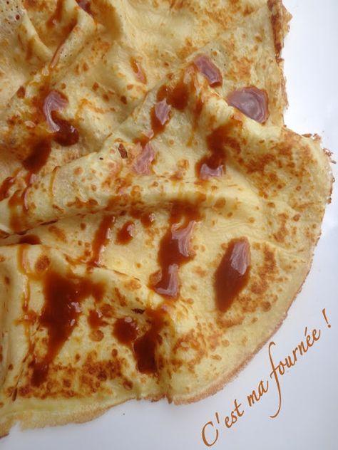 : Les crêpes : la recette ultime ! ' 500g de lait entier, 200g de farine T45 4 oeufs 60g de sucre 60g d eau 3g de sel 20g de beurre fondu 30g de rhum, vanille zeste d orange...)