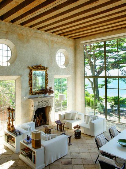 Moms Turf Richard Shapiros Lovely Mediterranean Villa No Curtains