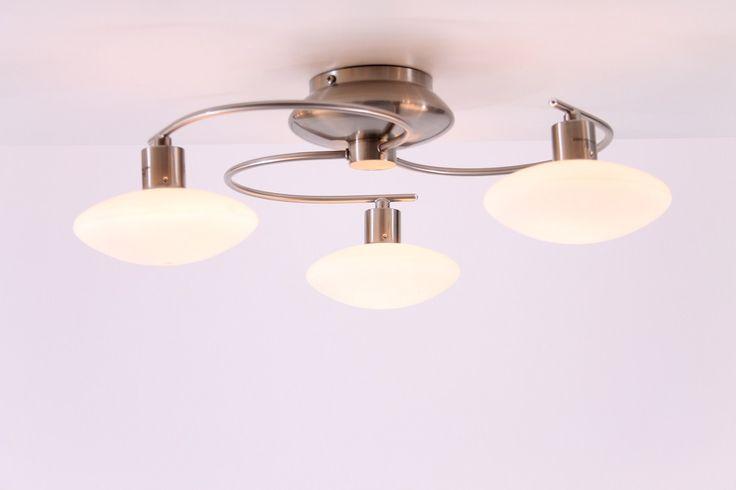 lampen Plafondlamp incl. 3 x 40 watt G9 halogeen 230 volt Plafondlamp 3 x rond glas plafondlamp