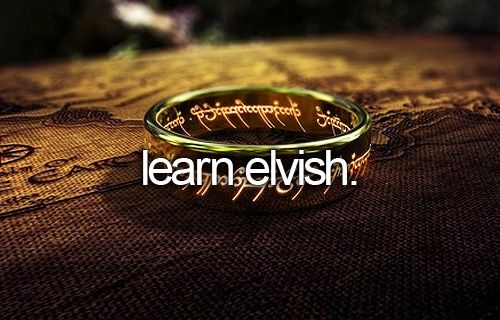 Currently trying to learn elvish :: The Lord of the Rings ...