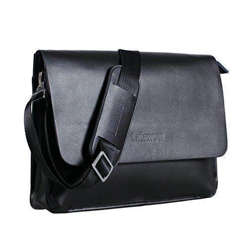 Oferta: 32.99€. Comprar Ofertas de Lalawow maletín de piel para hombres bolso de mensajero maletín para portátil (Negro) barato. ¡Mira las ofertas!