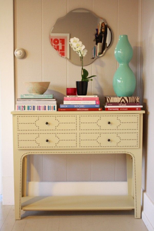 Love the detail on this console table.