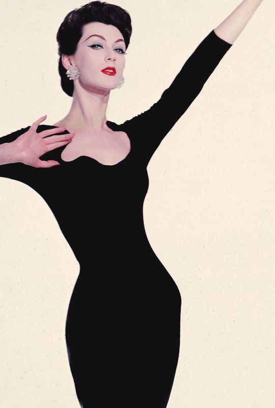 Dovima in a still from Funny Face, 1957.