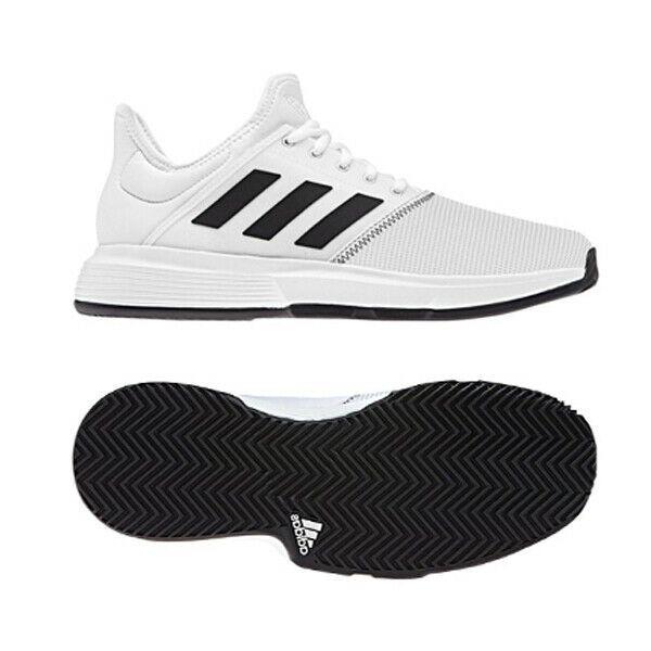 Adidas Game Court Wide Men S Tennis Shoes White Black Racket Racquet Nwt Cg6336 Adidas Tennisshoes Platform Tennis Shoes White Tennis Shoes Mens Tennis Shoes