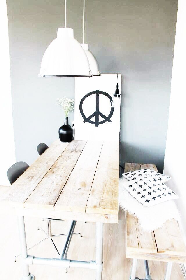 Peace painting & Wood