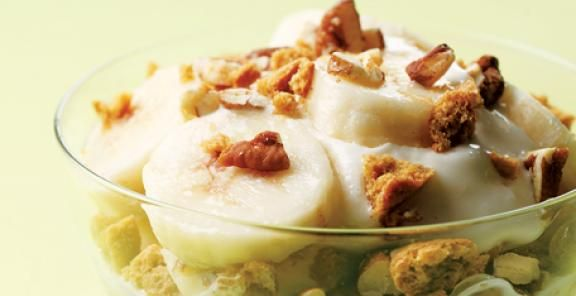Gingersnap-Banana Frozen Yogurt