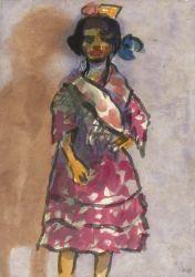Stehendes Zigeunermädchen By Emil Nolde ,1921