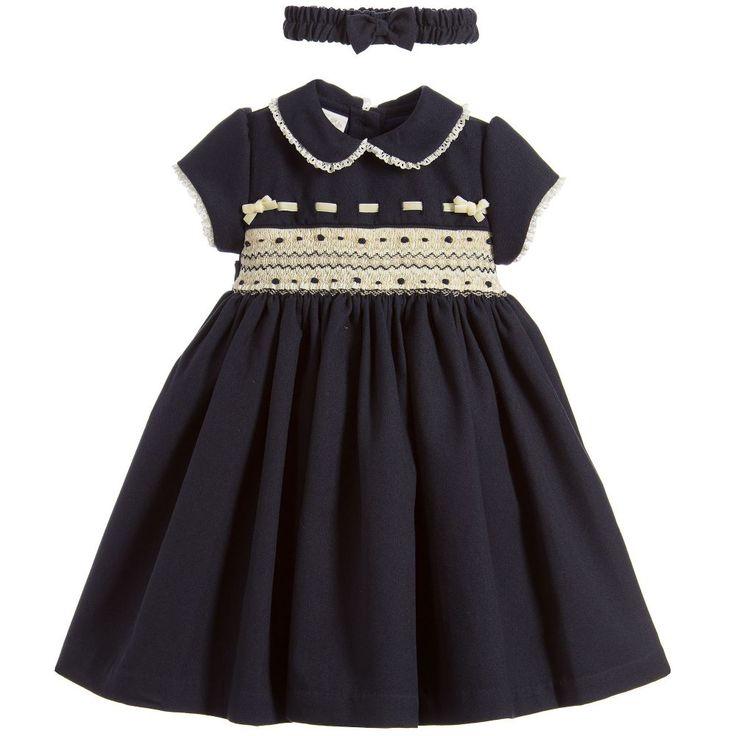 Pretty Originals - Girls Smocked Dress & Headband | Childrensalon