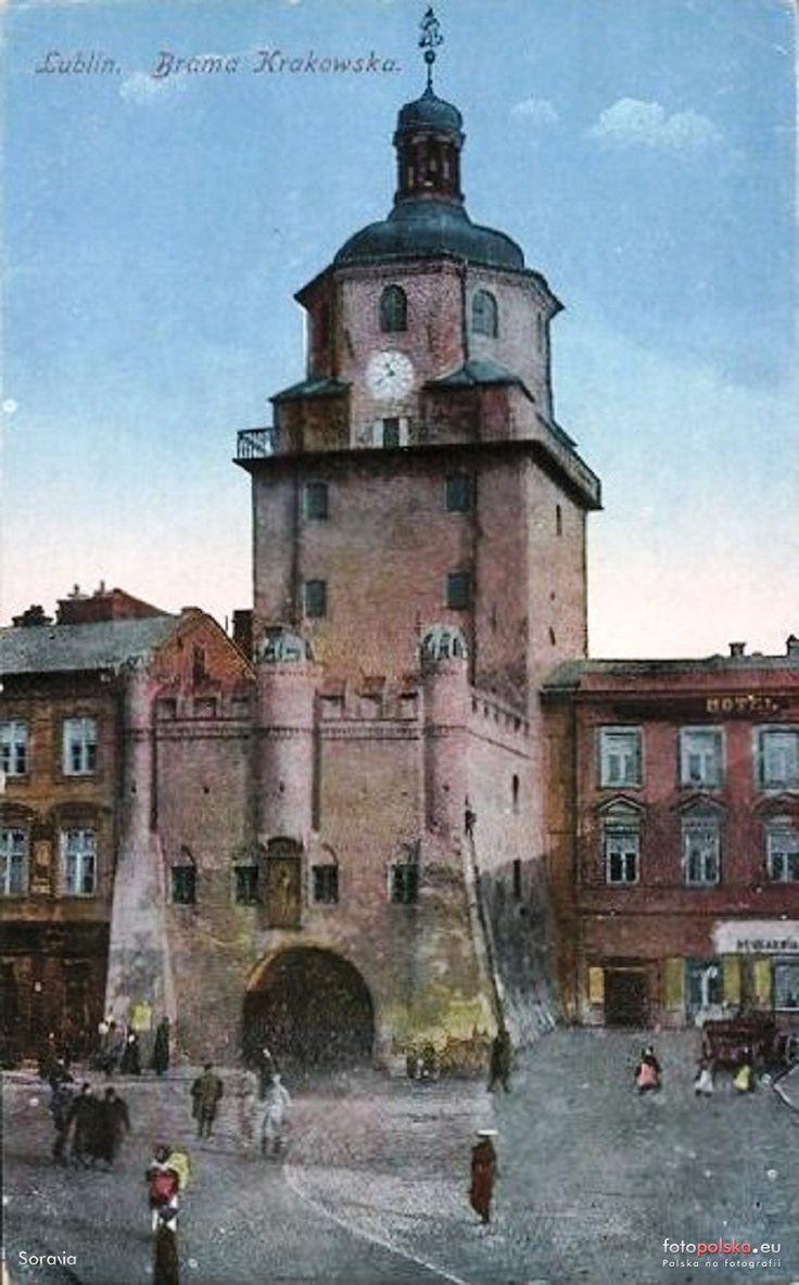 Brama Krakowska (Brama Wyższa), Lublin - 1918 rok, stare zdjęcia