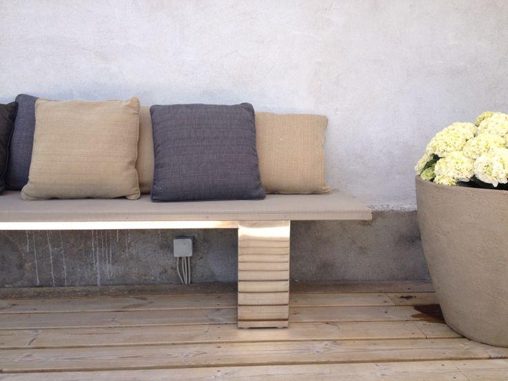 Doble bench, #garden furniture, #Lifeform.dk
