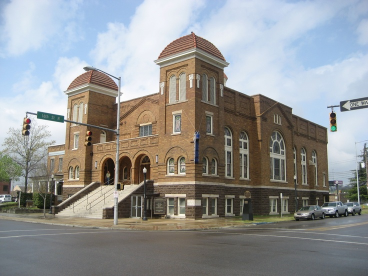 16th Street Baptist Church, Birmingham, AL.  Visited in the summer of '09 during a trip for the National Speech and Debate tournament.  An incredibly powerful place and the site of a tragic bombing in the 1960's Civil Right's Era.