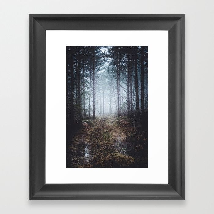 No more roads Framed Art Print by HappyMelvin. #forests #nature #photo #wallart #framedprints