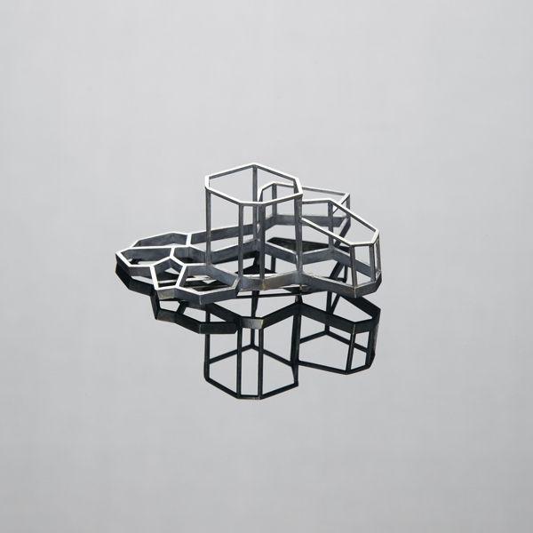 Martin Verner - Voronoi_brooch_2013_silver