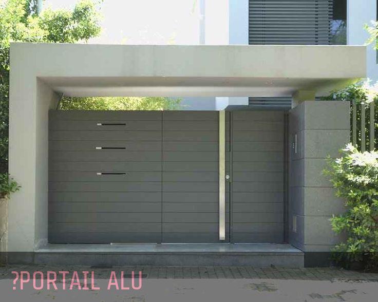 portail coulissants aluminium cloture pinterest fachadas portones de garage y puertas. Black Bedroom Furniture Sets. Home Design Ideas