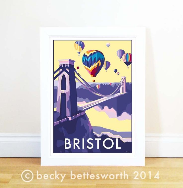 Bristol travel poster and seaside print by Becky Bettesworth - BeckyBettesworth - 1