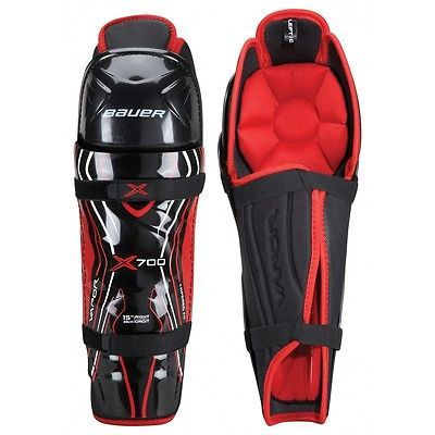 Bauer #vapor x700 ice hockey shin pads / guards - junior & #senior #sizes,  View more on the LINK: 	http://www.zeppy.io/product/gb/2/401104244977/