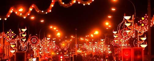 Leicester Diwali lights on the golden mile
