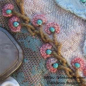 Step by step instructions and tutorial on how to hand embroider Alternating Barred chain stitch, with samples to give you ideas on how to use this stitch