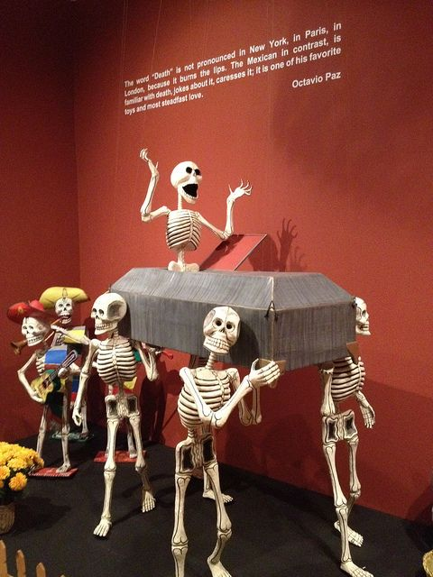 National Museum of Mexican Art, via Flickr. My culture chooses to embrace death instead of fearing it.