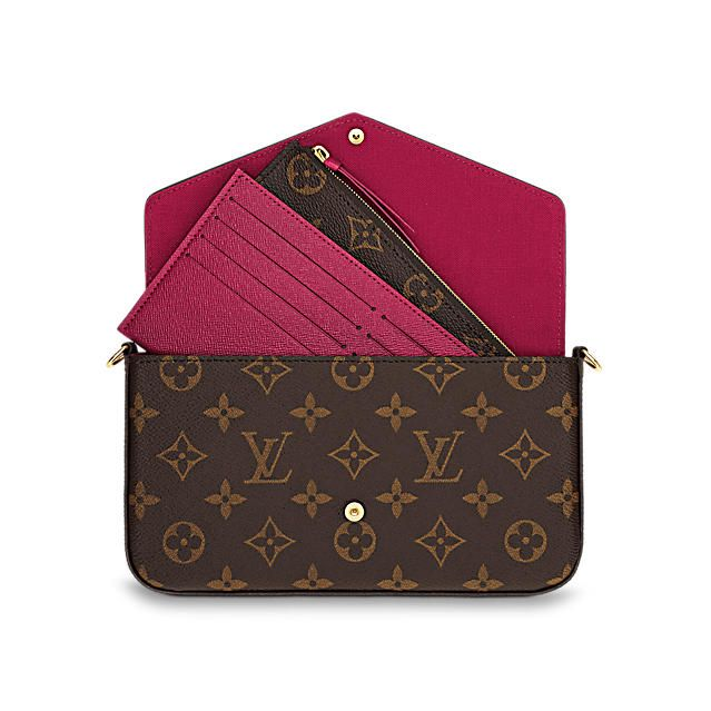 Discover Louis Vuitton Pochette Felicie: With its two removable interior pockets, the elegant Pochette Felicie in Monogram canvas is the stylish solution to carry and organize your daily essentials. Much more than a wallet, it can be transformed into a glamorous shoulder bag or clutch thanks to its removable golden chain.