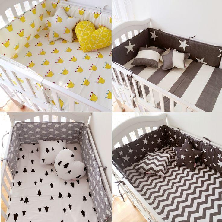 (1 stücke stoßstange nur) Mode heißer krippe stoßfänger kinderbett, kinderbett stoßfänger mode clauds/star/dot/baum, sicheren schutz für baby verwenden