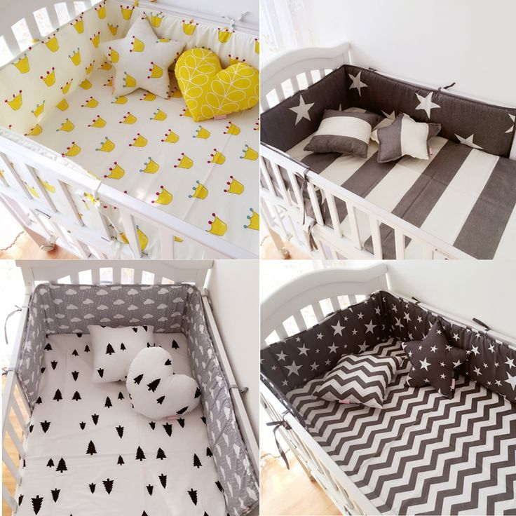 (1pcs bumper only)Fashion hot crib bumper infant bed,baby bed bumper fashion clauds/star/dot/tree,safe protection for baby use