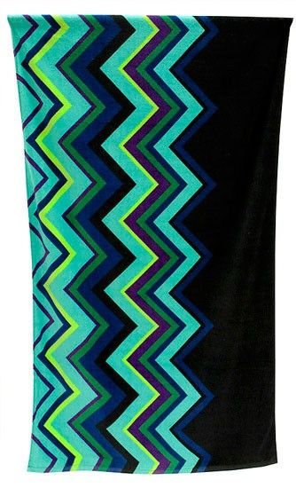 Lounge in modern style on the beach or by the pool, with this contemporary, printed velour beach towel in the latest fashion zig zag trend. http://wamhomedecor.com.au/index.php/zigzag-print-beach-towel-blues.html