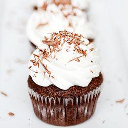 gluten-free chocolate hazelnut cupcakes, use GF, DF, SF choc chips!