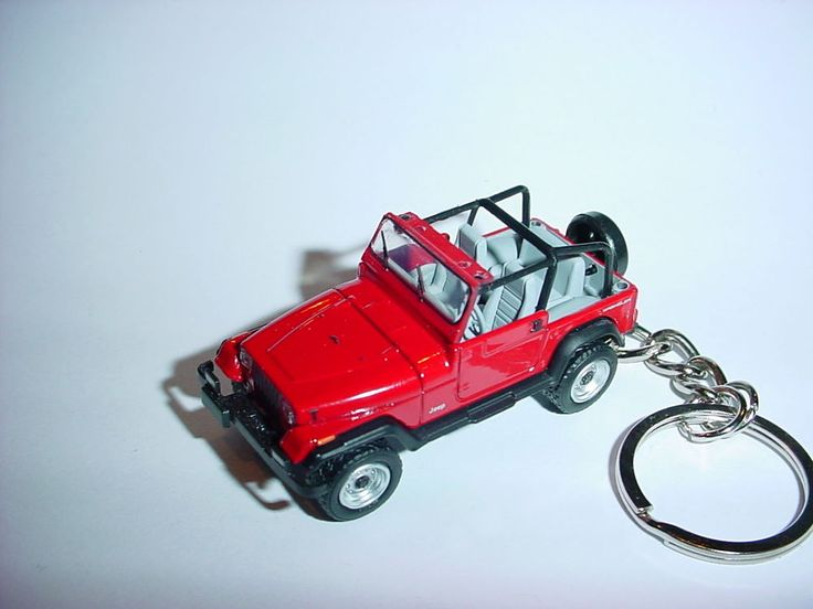 HOT 3D RED JEEP WRANGLER CUSTOM KEYCHAIN keyring key 4x4 offroad sahara 1992 #Unbranded