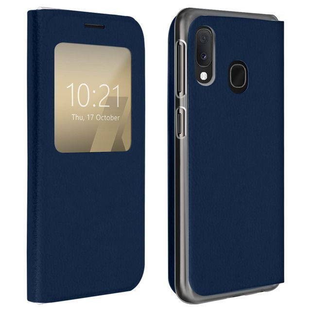 Avizar Protective Case Samsung Galaxy A20e With Large Window Dark Blue Samsung Cases Samsung Galaxy Protective Cases